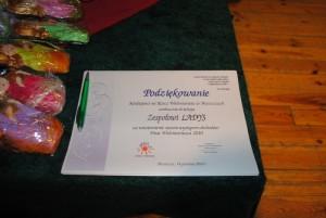 Podziękowanie Dzień Wolontariatu 2010